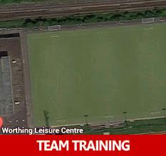 Divas football training in Worthing