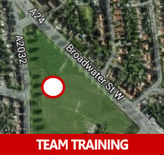 Under 9's football training in Worthing
