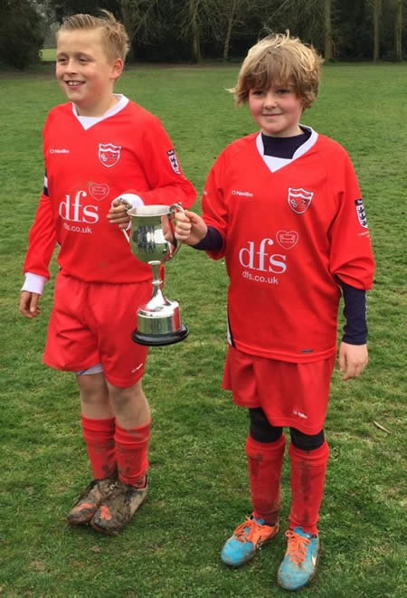Sophie and Jack with Trophy