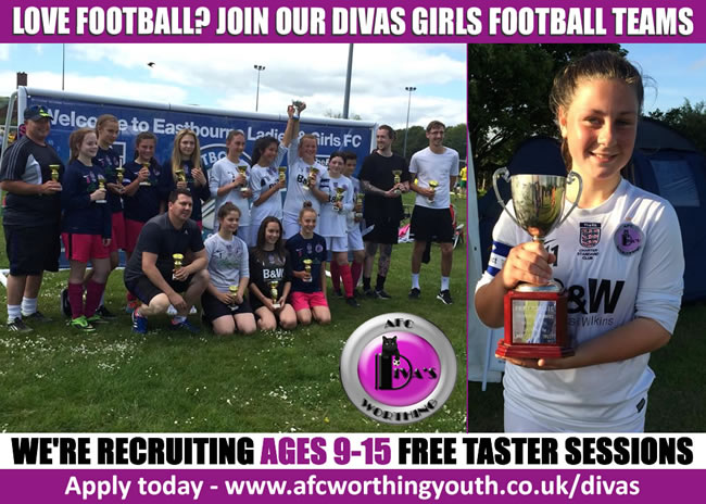 AFC Worthing Divas - Girls Football Teams in Worthing