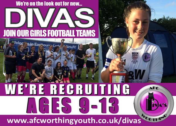 AFC Worthing Divas - Girls Football Teams in Worthing, Sussex