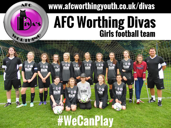 Girls Football Team - AFC Worthing Youth Divas