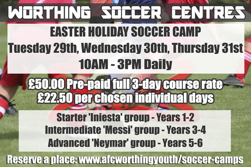 Easter Soccer Camp in Worthing