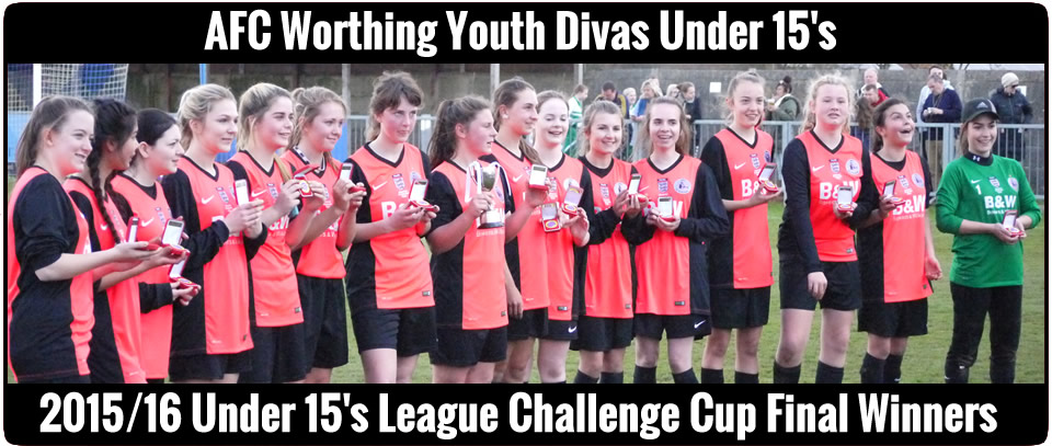 AFC Worthing Youth Under 15's Girls - Cup Winners