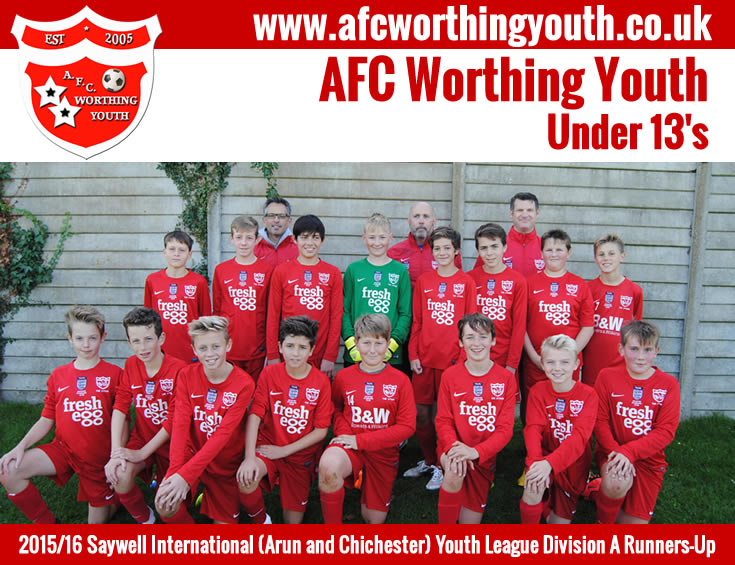 AFC Worthing Youth - Under 13's Div.A Runners Up