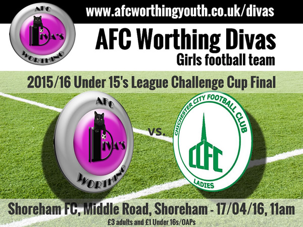 AFC Worthing Youth Divas Under 15's Cup Final