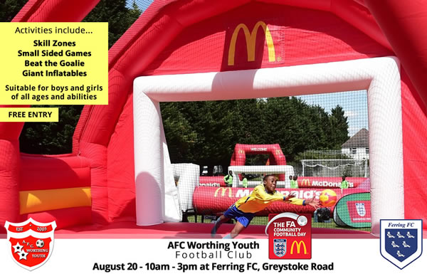 AFC Worthing Youth FA Community Fun Day
